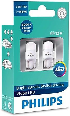 W5W LED T10 194 PHILIPS Car White 6000K Interior /& Parking Day Light 12V 5W