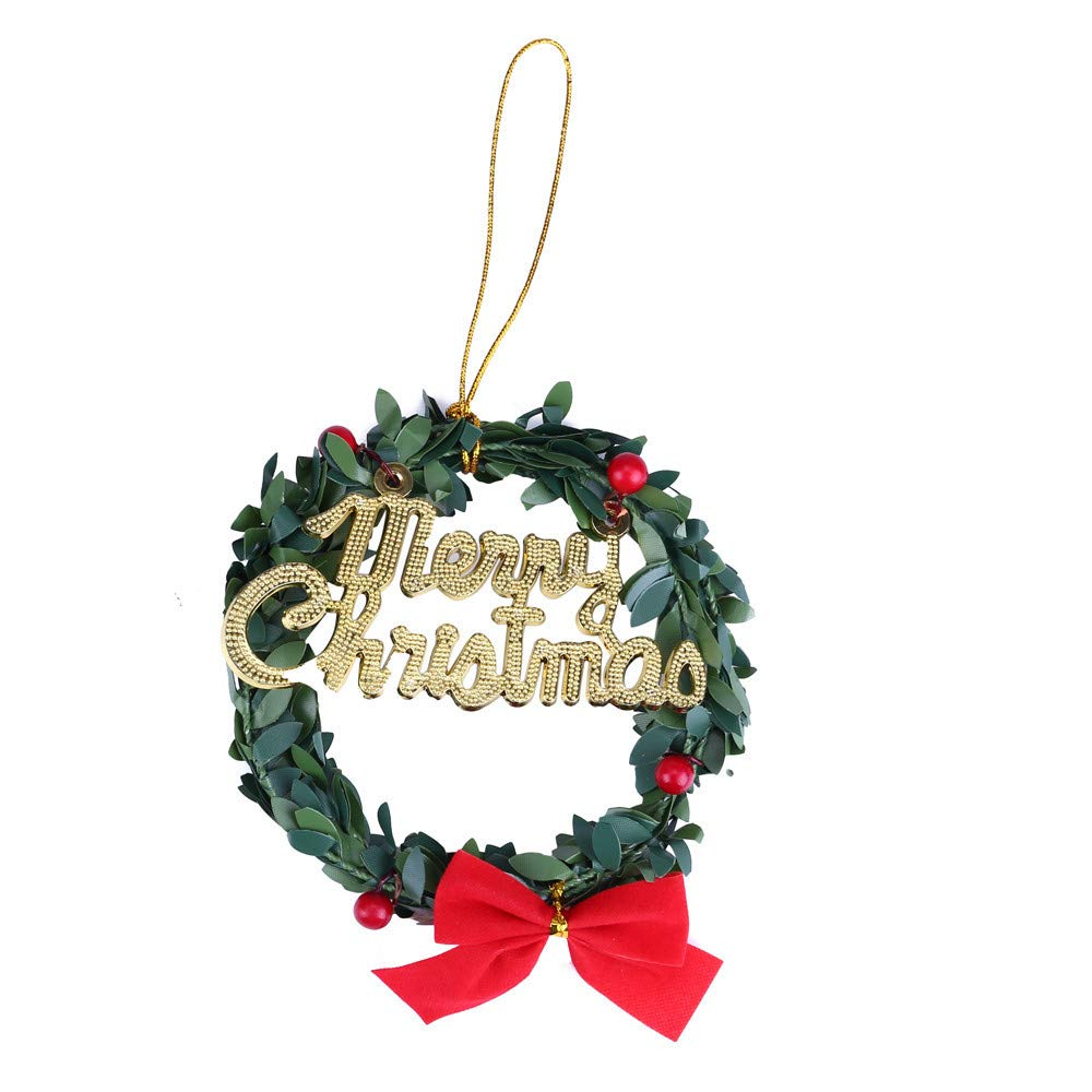 Hide on bush Christmas Decor,Christmas Tree Decor Small Ornament,Mini Christmas Tree Desktop Ornaments, Home Decor Pendant Xmas Tree Decor Party (B)