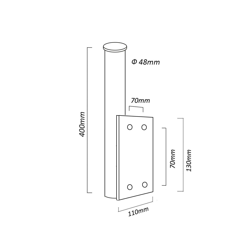 m/ât /à repasser 10/cm Maclean mctv de 555/SAT Accessoires de montage antenne satellite Accessoires