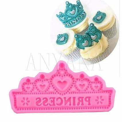 Anyana Princess Crown Tiara Candy Silicone Mold For Sugarcraft Cake Decoration Cupcake Topper