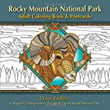img - for Rocky Mountain National Park Adult Coloring Book & Postcards: A Magical Coloring Journey through Rocky Mountain National Park book / textbook / text book