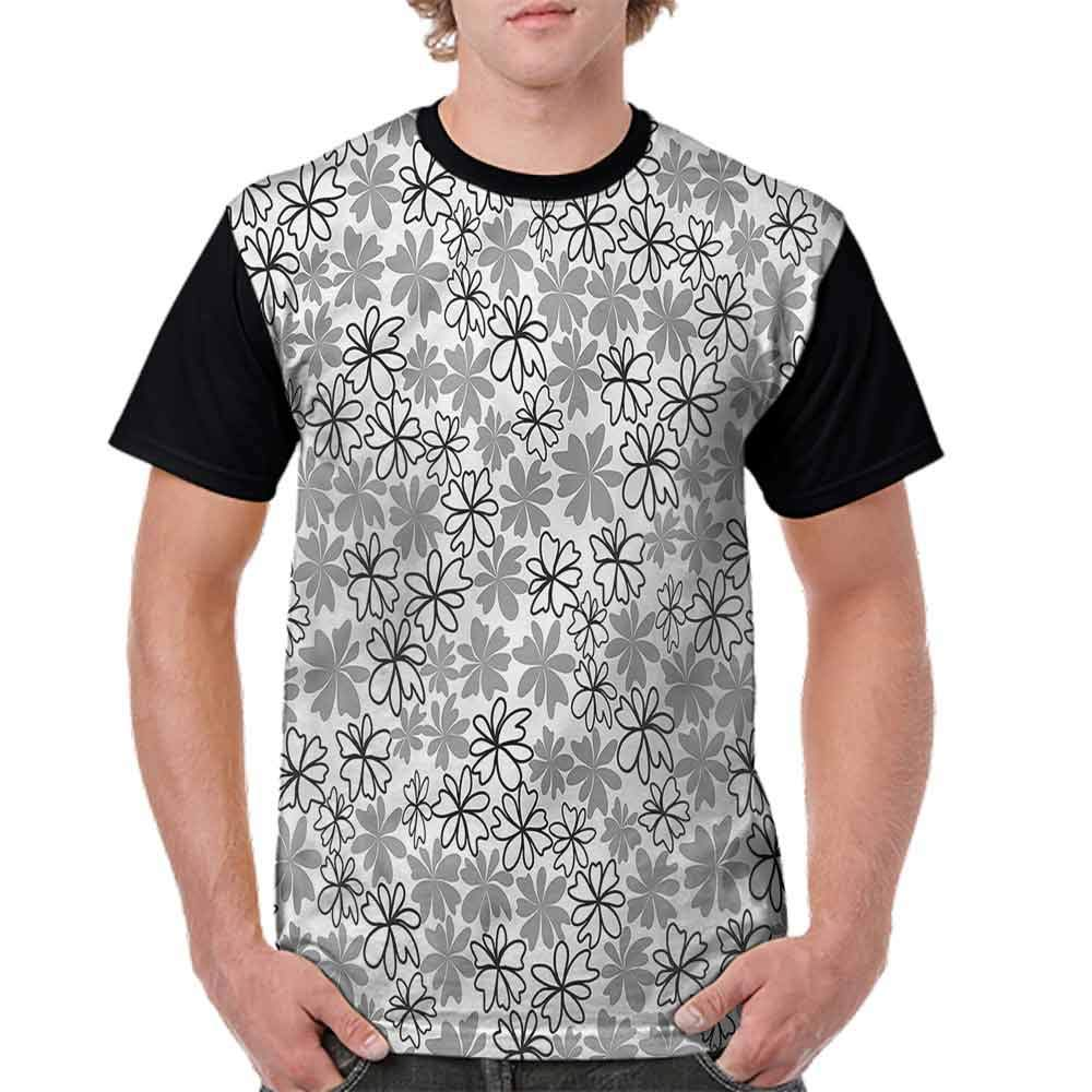 BlountDecor Trend t-Shirt,Sketch Style Spring Petals Fashion Personality Customization