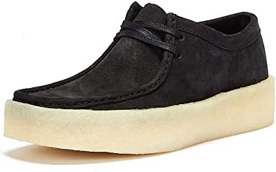 Clarks Wallabee Cup Nubuck Zapatos Negros para Hombre