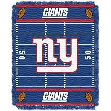 NFL New York Giants Field Woven Jacquard Baby Throw Blanket, 36x46-Inch
