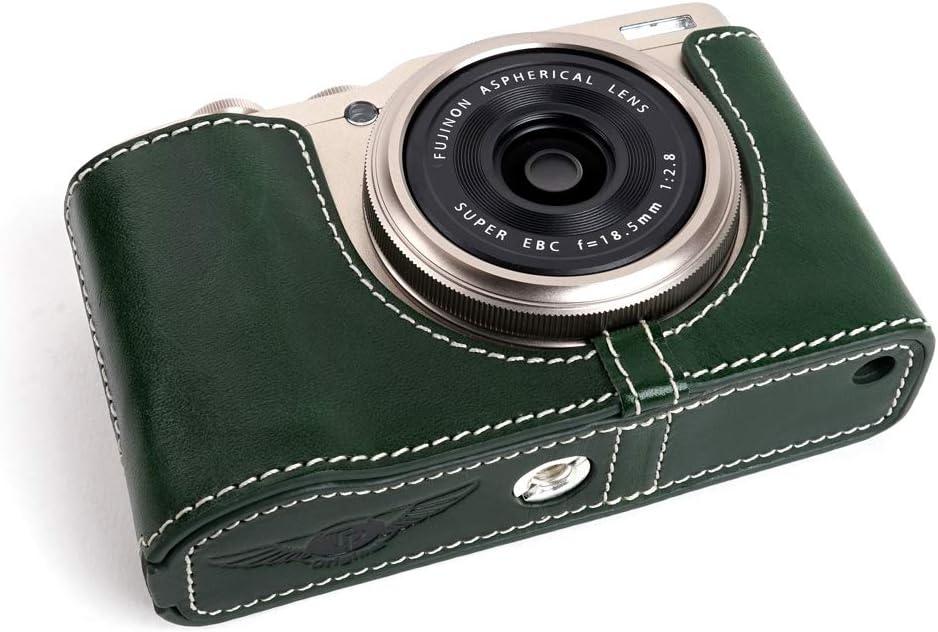 XF10 Camera Case Black BolinUS Handmade Genuine Real Leather Half Camera Case Bag Cover for Fujifilm Fuji XF10 Camera Bottom Opening Version Hand Strap
