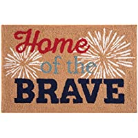 C&F Home Hooked Home of the Brave Patriotic Parfait Rug, Red