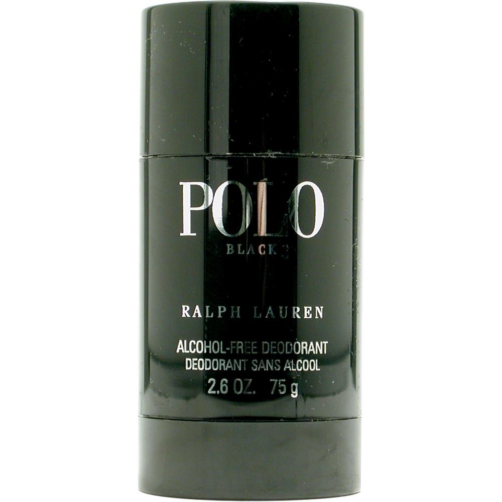 POLO BLACK by Ralph Lauren DEODORANT STICK ALCOHOL FREE 2.6 OZ for MEN ---(Package Of 6)