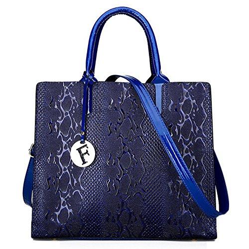 Azzurro Cerniere Borse Voguezone009 Manico Fughe borse Spalla Donna A Weekend Superiore CqBvC