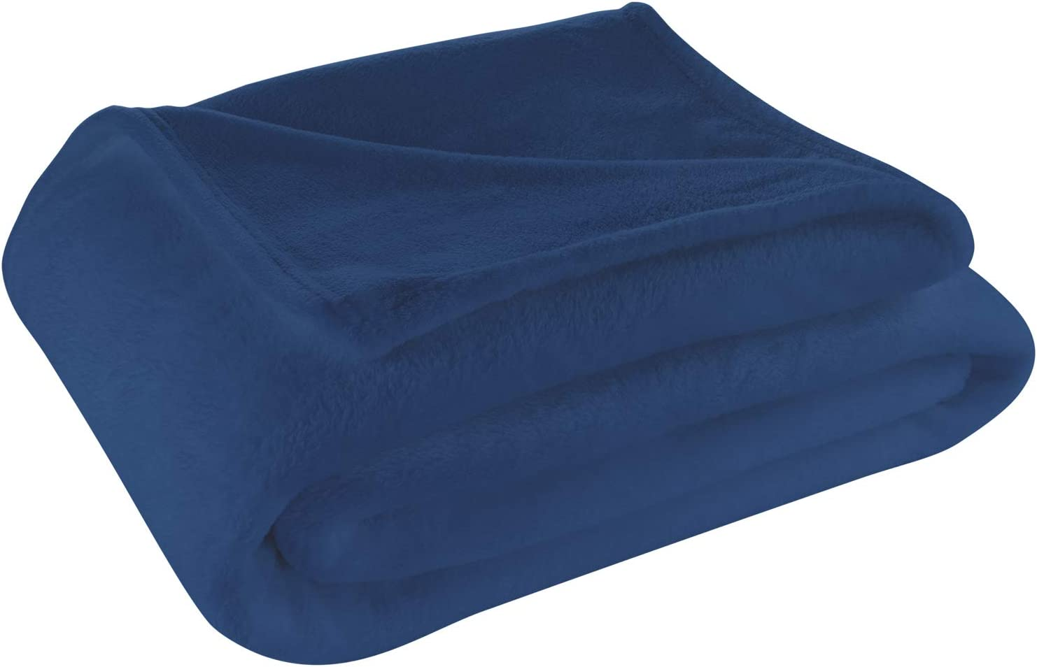 Cosy House Collection Twin/Twin XL Size Fleece Blanket – All Season, Lightweight & Plush Hypoallergenic - Microfiber Blankets for Bed, Couch or Travel - Navy