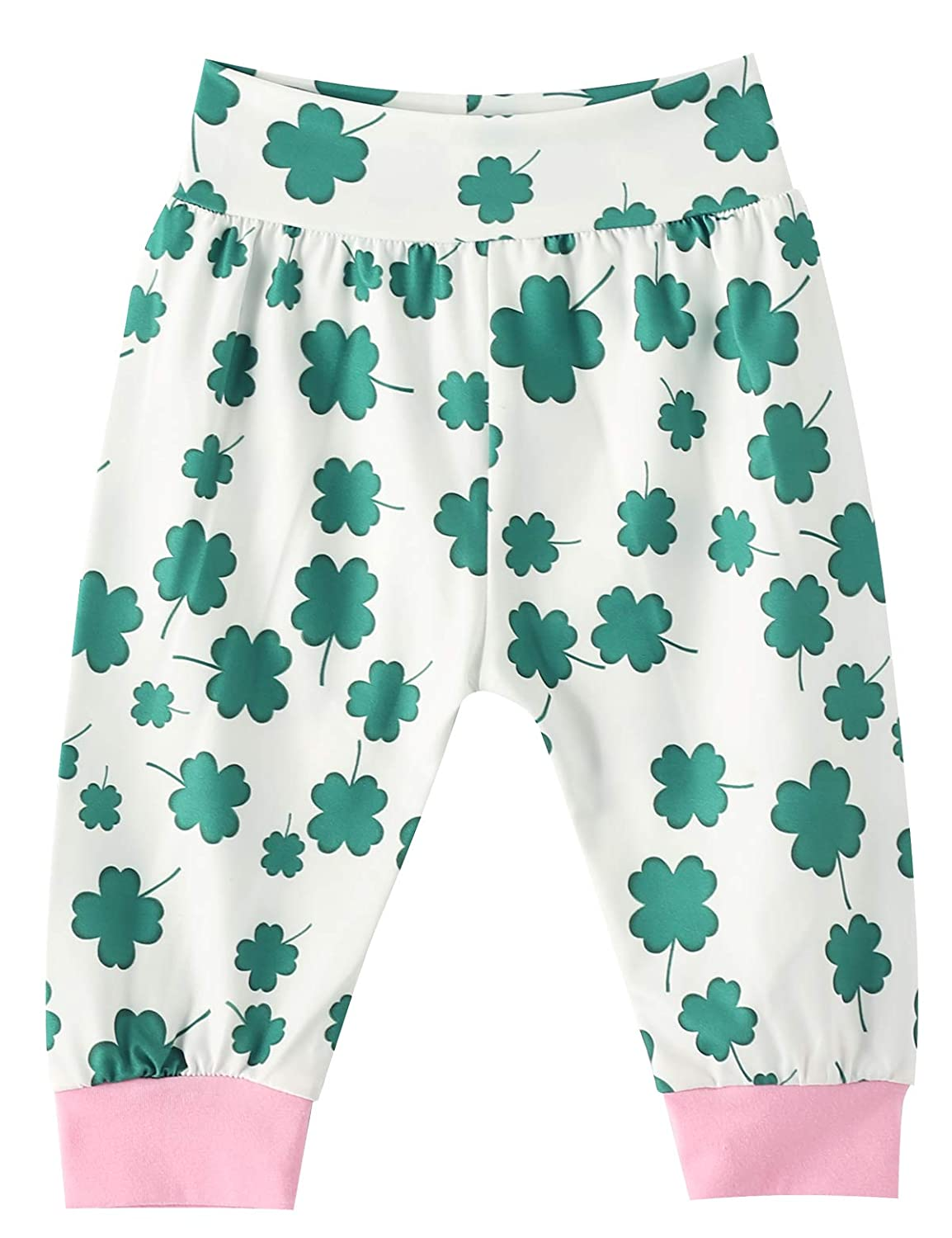 My First St Patricks Day Baby Girls Outfit Set Clover Romper