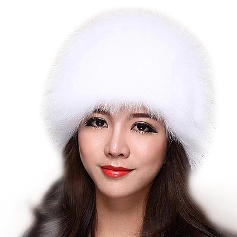 FURTALK Damen Winter aus Hochwertige Nature Fuchspelz Material mit Stricken Design Pelzmütze Wintermütze Strickmütze