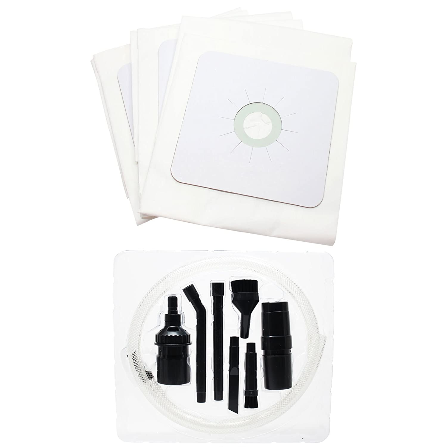 3 Replacement 391 Central Vacuum Bags with 1 Micro Vacuum Attachment Kit for NuTone, Beam, Electrolux - Compatible with Nutone VX475, Nutone CV353, Nutone CV450, Nutone 391, Nutone CV400, Nutone CV350, Nutone 44186, Nutone CV352, Nutone CV750, Nutone CV-391, Nutone CF3918, Nutone Advantage, Beam 167, Nutone CV351, Nutone CV653