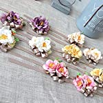 USIX-2pc-Pack-Handmade-Artificial-Camellia-Flower-Wrist-Corsage-With-Elastic-Wristband-for-Girl-Bridesmaid-Wedding-Party-Prom-Flower-Corsage-Hand-Flower-Lavender-Wrist-Corsage-x2
