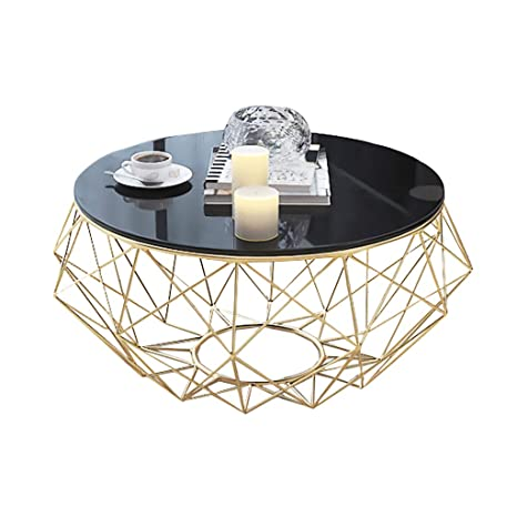 Amazon Com Dxjni Wrought Iron Coffee Table Round