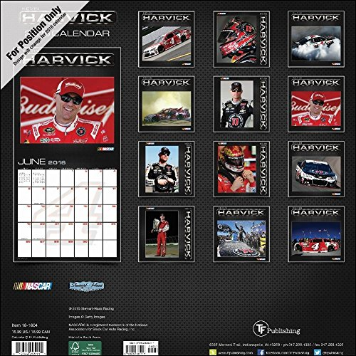 TF Publishing 2017 Kevin Harvick Wall Calendar (17-1604) Photo #3