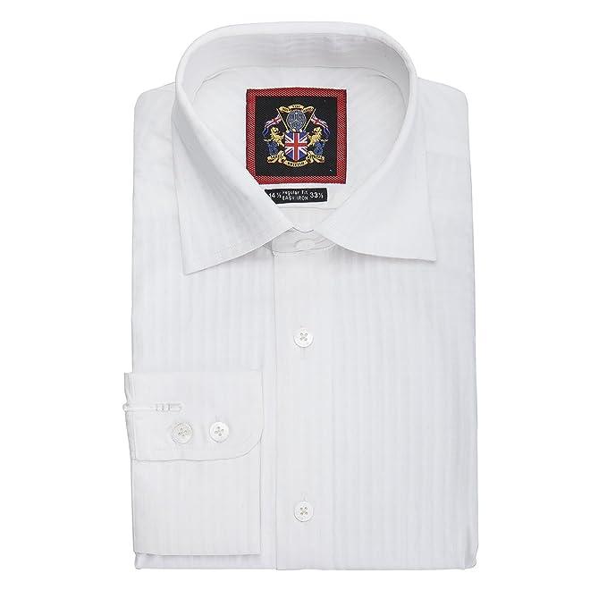 e18f388d Janeo British Apparel, The Classic London White Shirt Single & Double Cuff Long  Sleeve. 3 Whites, Plain, Self-Stripe & Self Checks. 100% Giza Cotton.