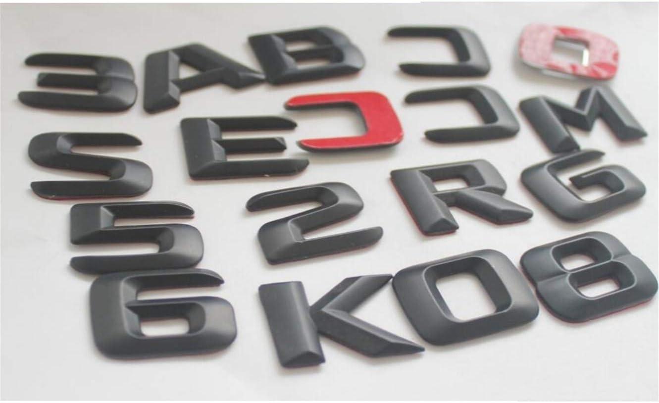 cvnbdfgjhdfjh 1 Set matt schwarz ABS Kofferraumwanne hinten Nummern Buchstaben W/örter Emblem Aufkleber C43 AMG