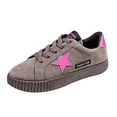 Zapatos De Lona De Mujer Estrellas De La Moda Sneakers Aumentar Dentro Shoes El Verano Outdoor Zapato Zapatillas Bajos Shoes YiYLunneo: Amazon.es: Ropa y ...