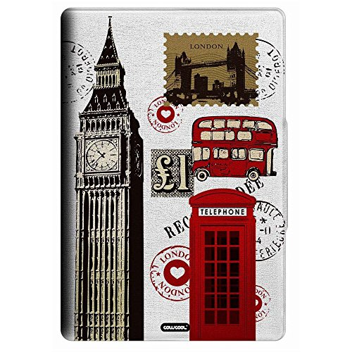 Galaxy Tab A 9.7 T550 9.7 inch Case, CowCool(R) Hand-painted PU Leather Card Holder with Kickstand Case for Samsung Galaxy Tab A 9.7 T550 9.7 inch, London Bridge Booth double decker (Style02) (Double Bridge Decker)