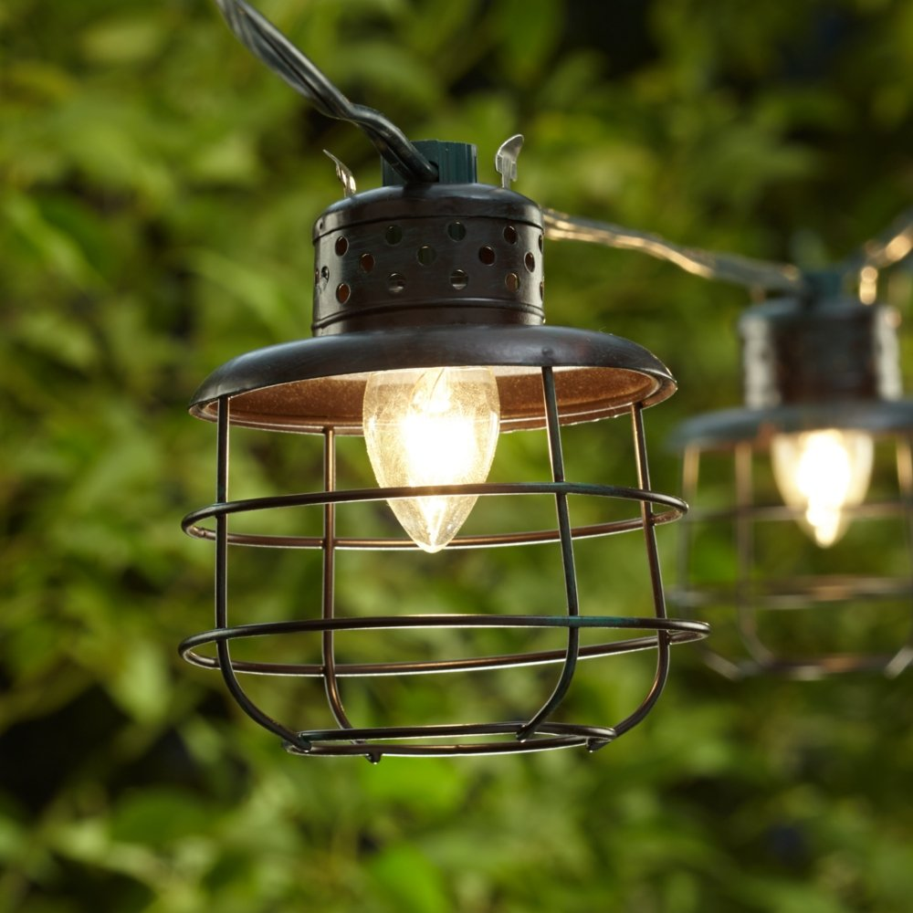 Amazon com  Metal Cage Lantern String Party Lights   10 Light Strand  Home    KitchenAmazon com  Metal Cage Lantern String Party Lights   10 Light  . Outdoor String Lighting Canada. Home Design Ideas