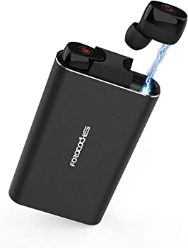 Forocoches Bluetooth NC Sweatproof Earbuds with Mic & Charging Case