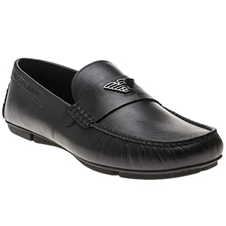 Emporio Armani Driver Zinos Mens Shoes Black by Emporio Armani