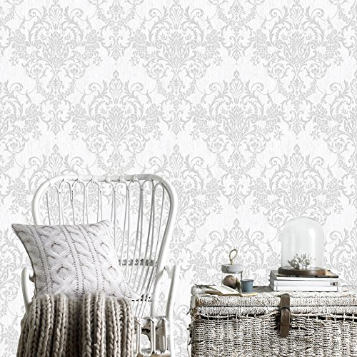(Graham and Brown 103029 Empress Victorian Damask Paste-The-Wall Non-Woven Wallpaper)