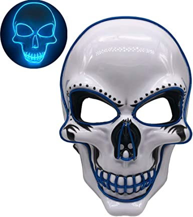 Top /& Pants Boys Light-Up Skeleton Halloween Costume Mask