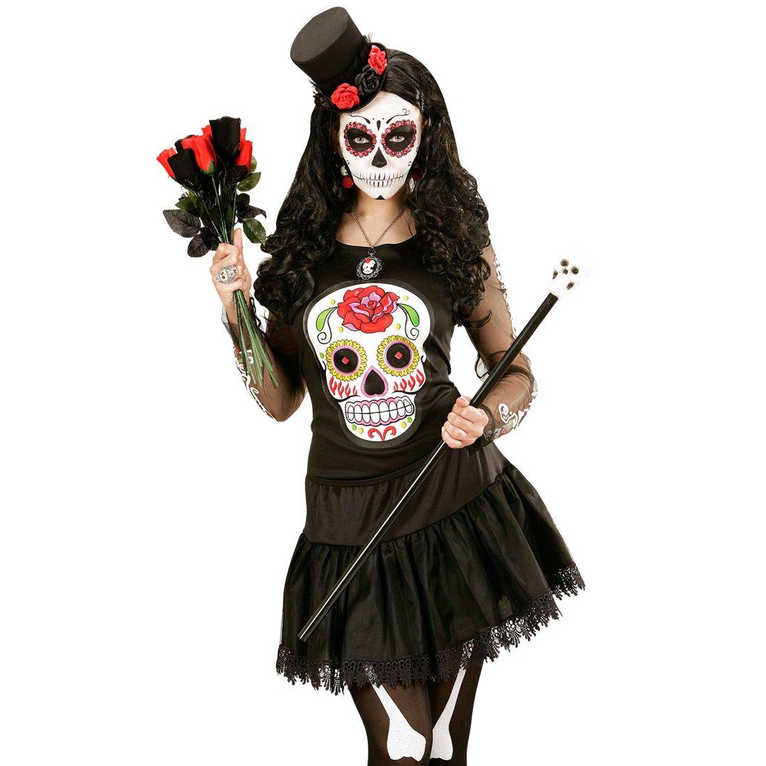 Amakando Disfraz La Catrina Camisa Sugar Skull Traje señora ...
