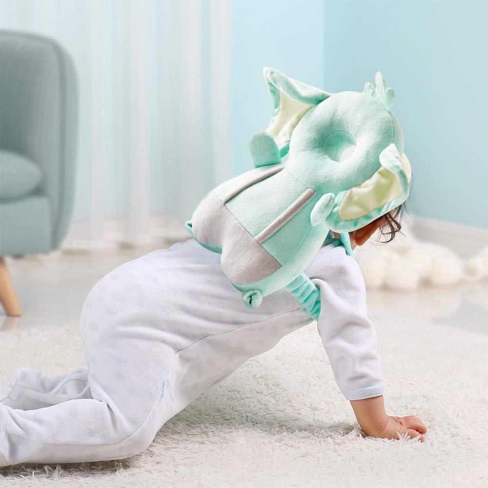 Kopfschutzpolster f/ür Babys Baby Kopfschutzpolster WENTS Bruchsicheres Babykissen f/ür Kleinkinder kurzer Pl/üsch Kopfschutz f/ür Kindersicherheit