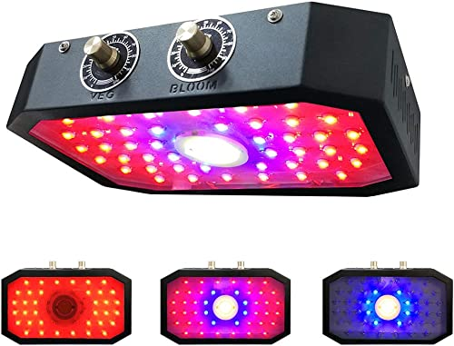 Led Grow Light 1000W Full Spectrum Lamp, Indoor Grow Lights for Veg and Bloom Plants, Double Adjustable Knobs Plant Light for Greenhouse GL539 – Black