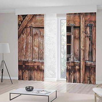 Amazon.com: YOLIYANA Living Room Curtains,Rustic,Living Room ...