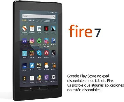 Tablet Fire 7, pantalla de 7, 32 GB (Negro) - Incluye ofertas ...