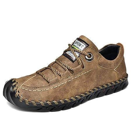 Hy Calzado para Hombre, Mocasines de Cuero de Primavera y Zapatillas sin Cordones Calzado de