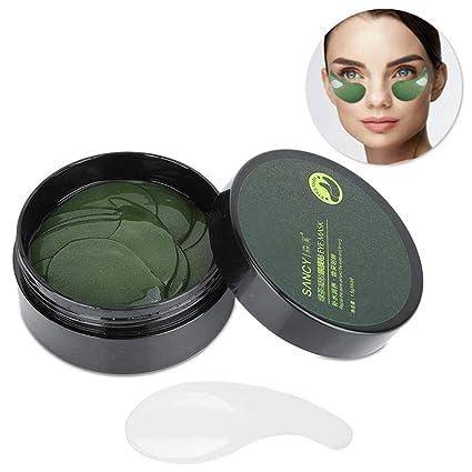 El parche ocular de té verde, hidratante, tensa la piel ...