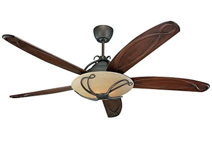 Monte Carlo 5CLR66RBD-L, Chloe Ceiling Fan w/Light & Wall or Remote ...