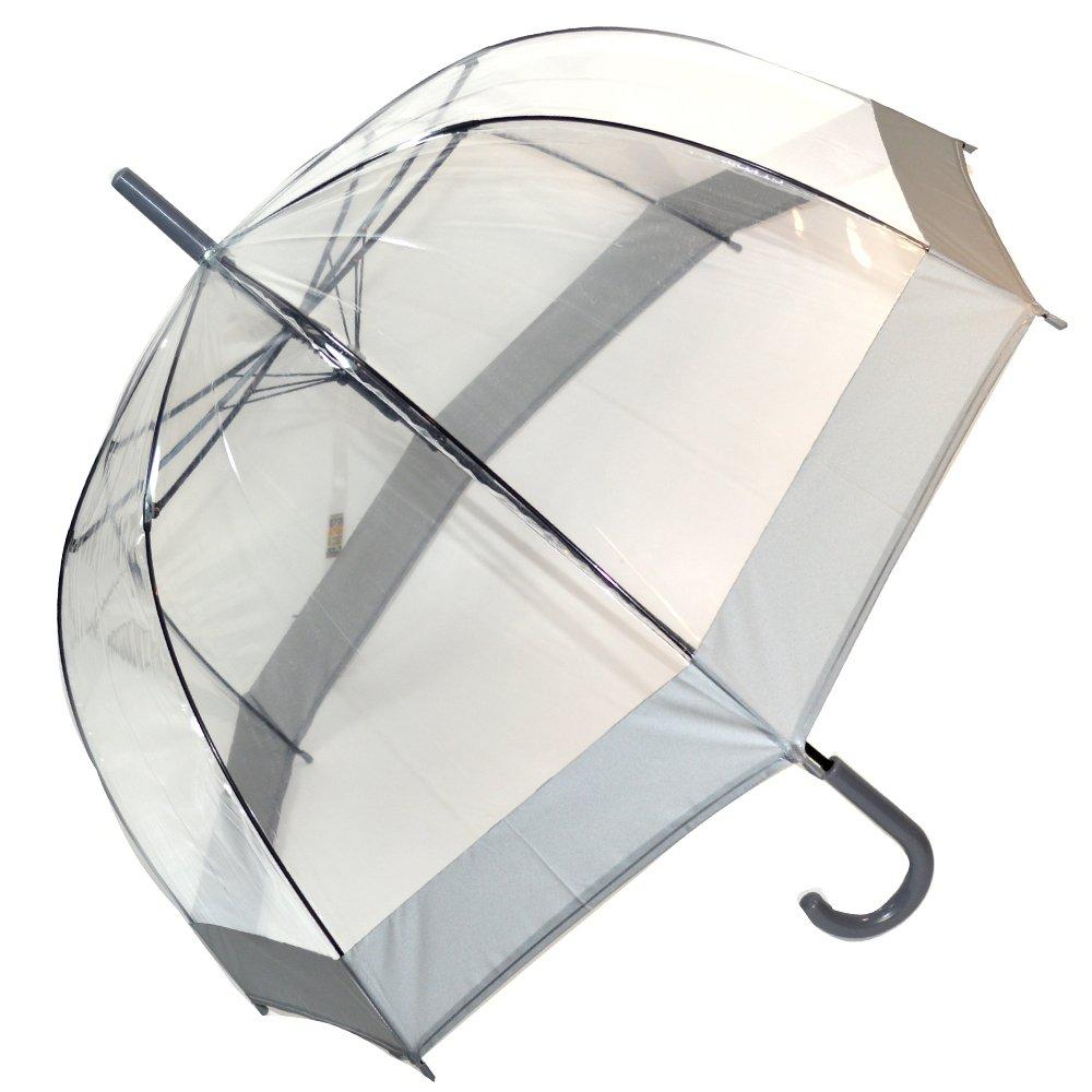 Ombrello automatico Cupola trasparente, colore: grigio Soake SOAKEEDSCDGARGENT