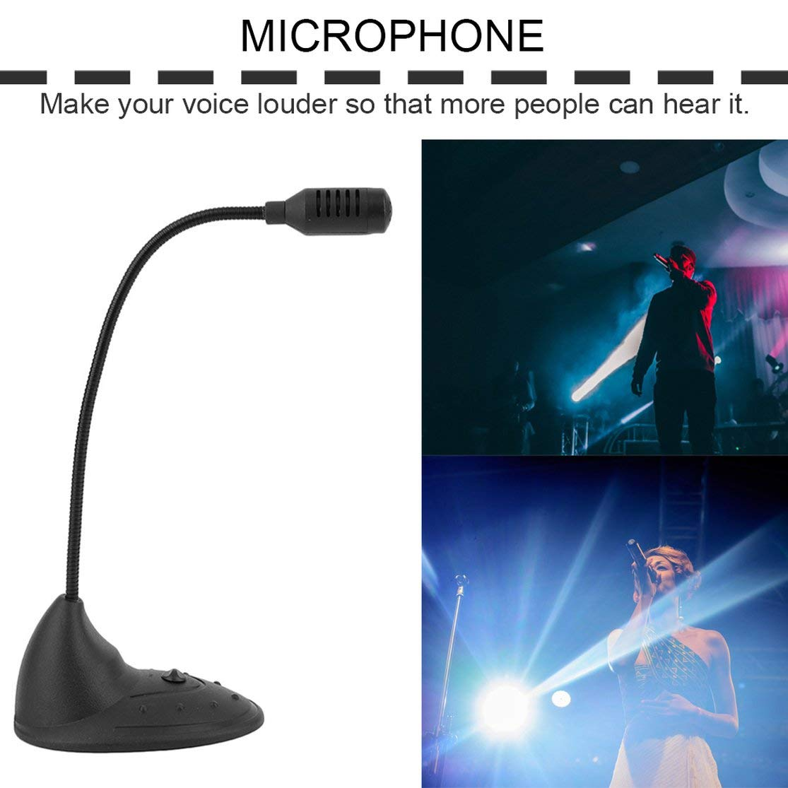 Color:black Desktop Microphone CD-2000 Small Practical Notebook Computer Microphone Studio Speech Mic Stand Holder For Pc