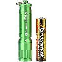 Olight® I3E EOS LED Mini Taschenlampe mit Schlüsselanhänger - durch 1 x AAA-Batterie angetrieben (Silber, Kupfer, 120 Lumen, andere Farben wie Schwarz, Grün, Rot, Lila, Blau, 90 Lumen)