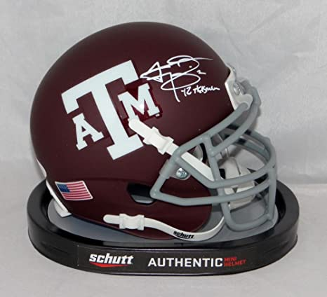 de9bb65cdd1 Image Unavailable. Image not available for. Color  Johnny Manziel Heisman Signed  Texas A M Maroon Schutt Mini Helmet- JSA W Auth White