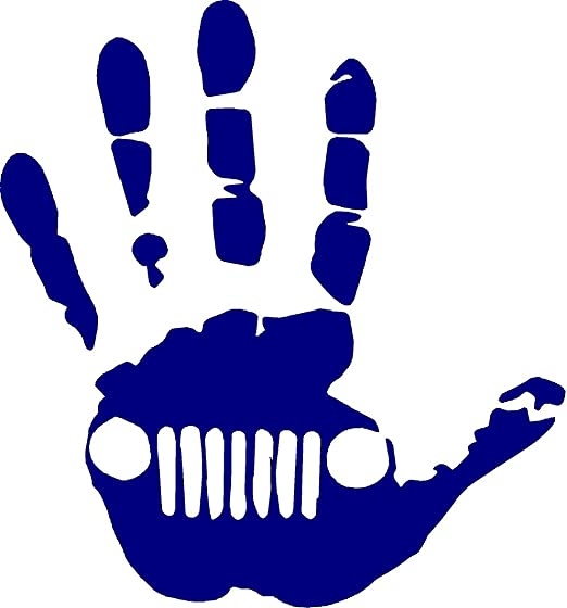 DECAL!!!!! JEEP HAND VINYL STICKER MULTIPLE COLORS AVAILABLE!!!!!!!