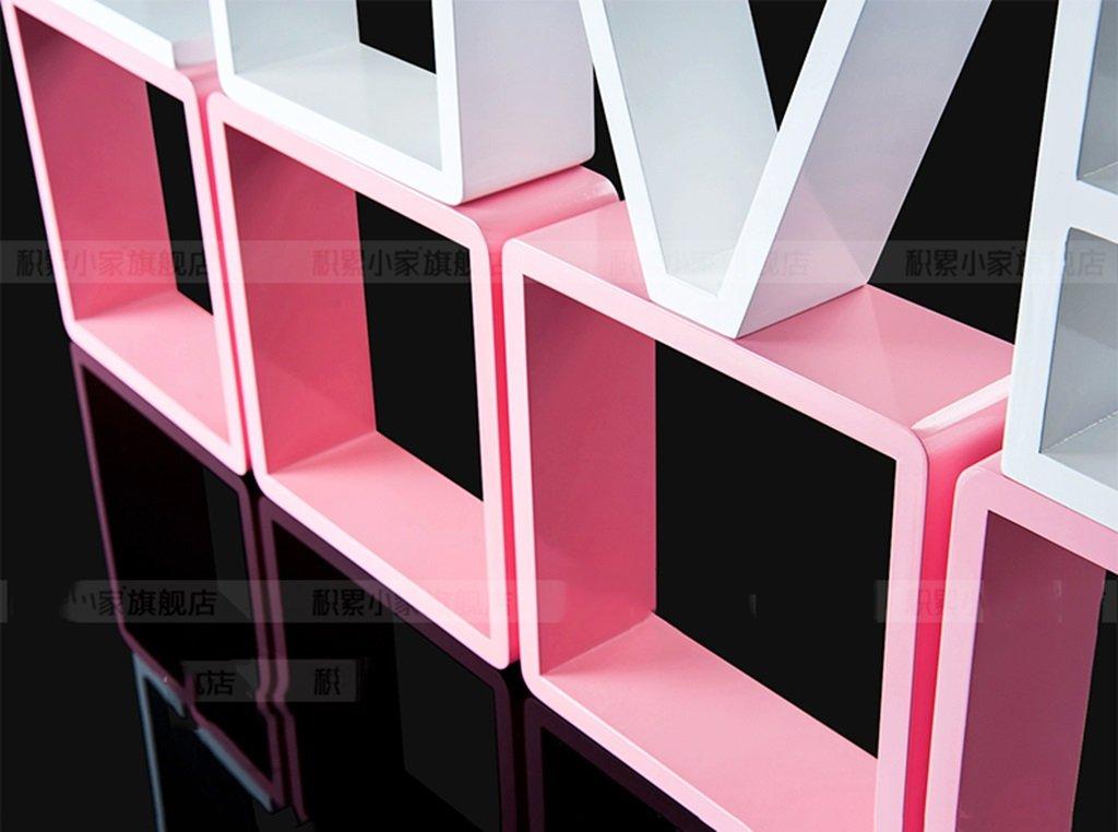 Wall Shelf LOVE Bedroom Floating Mount Shelf by AI XIN SHOP (Image #2)
