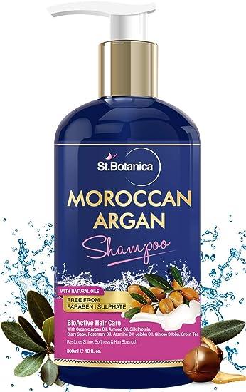 Amazon.com: St. Botanica Argán marroquí Cabello Shampoo 300 ...