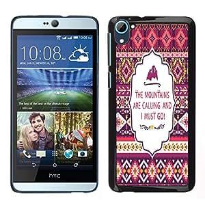 Dragon Case - FOR HTC Desire D826 - Don't be limited - Caja protectora de pl??stico duro de la cubierta Dise?¡Ào Slim Fit