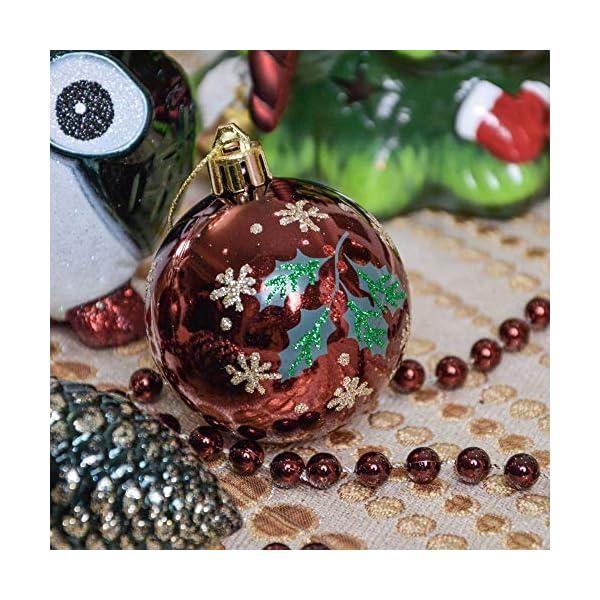 Valery Madelyn Palle di Natale 90 Pezzi di Palline di Natale, 3-13 cm di Strada di Campagna Rosso Verde e Oro Infrangibile Ornamenti di Palla di Natale Decorazione per la Decorazione 5 spesavip