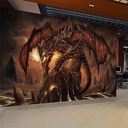 Wangsss Peinture Murale Fond Décran 3d Mur De Dragon
