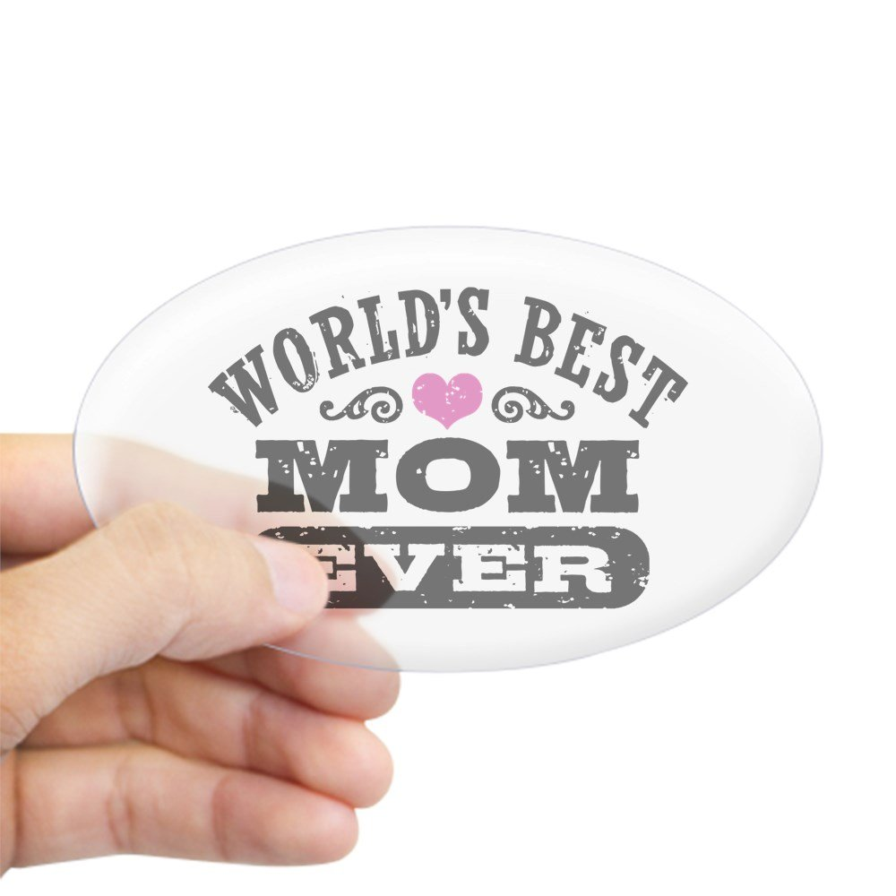 Amazon com cafepress worlds best mom ever sticker oval oval bumper sticker euro oval car decal home kitchen