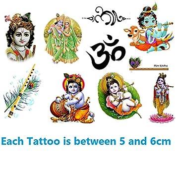 Amazon Com Hindus India Collection Krishna Temporary Tattoos Beauty