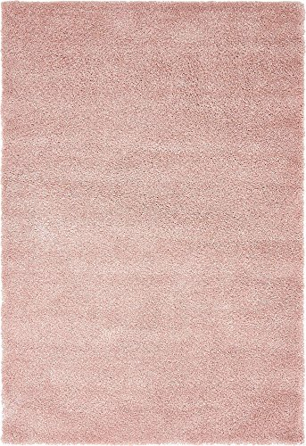 (Unique Loom Solo Collection Solid Plush Kids Pink Area Rug (5' 0 x 7' 7))