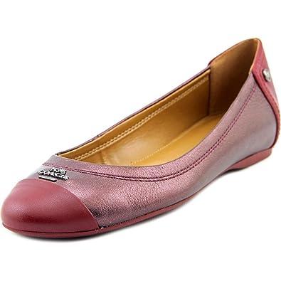 a445389a1a0 Coach Chelsea Flat Women US 5 Burgundy Flats  Amazon.co.uk  Shoes   Bags